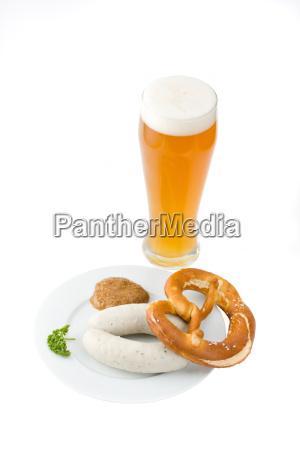 posilek piwo schoppen musztarda pszenica bawarski