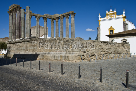 portugalia evora tempel rom geschichte kultur