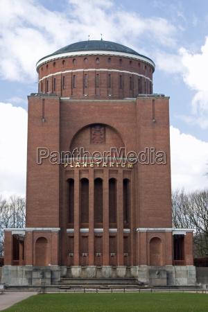 hamburg wasserturm planetarium obserwatorium kinowa cinema