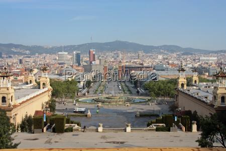 wieza pomnik hiszpania barcelona placa backsteinturm