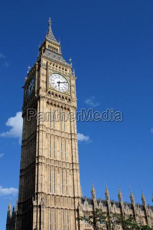 niebieski zegarek londyn anglia ben swiecenie
