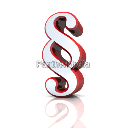 3d paragrafenzeichen srebrny czerwony