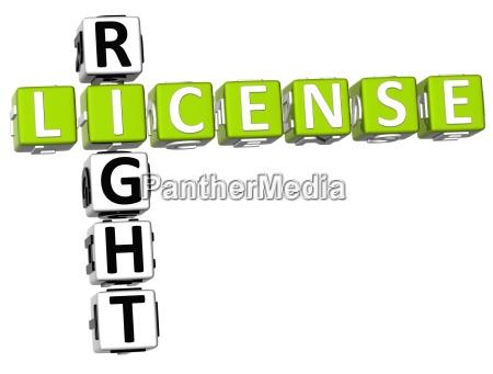 licencja prawo krzyzowka