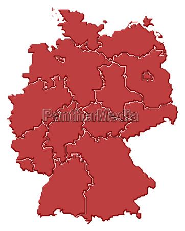 niemcy republika federalna mapa nieba niemcy