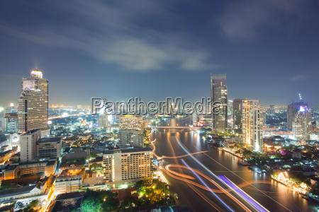 aerial bangkok skyline