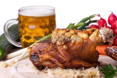 kufel piwo schoppen bawarski karkowka wieprzowina