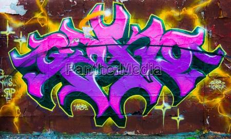beton listow fioletowy graffiti grafitti malowanie