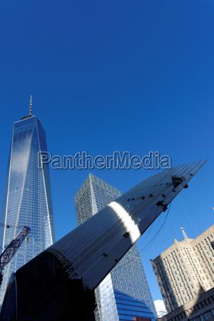 niebieski wieza miasto grod town nowoczesne