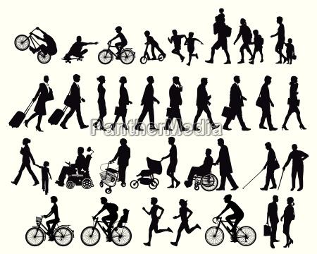 ludzie w ruchu i dzialalnosci