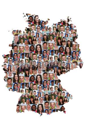 niemcy mapa ludzie mlodzi ludzie integracja