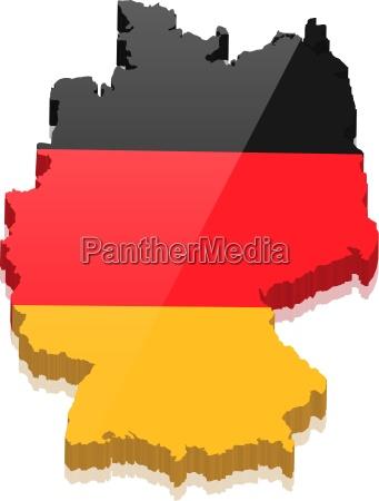 mapa niemcy z niemcami kolory grafika