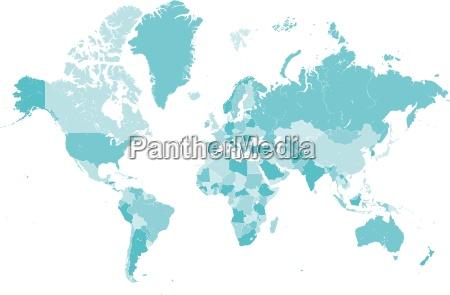 niebieski mapa kraj globus planeta ziemia
