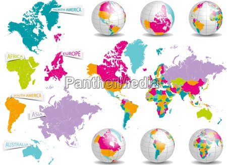 mapa planet globus planeta ziemia swiat