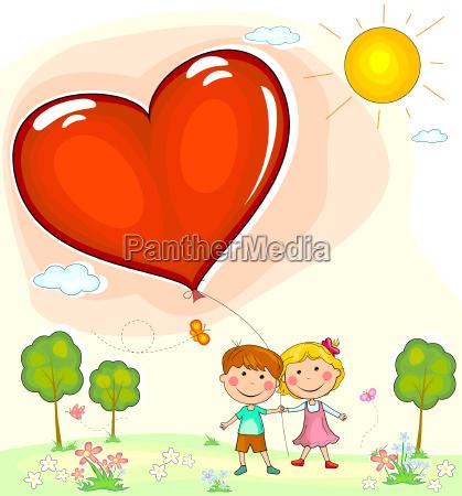 balon balonik dymek valentine card chlopiec