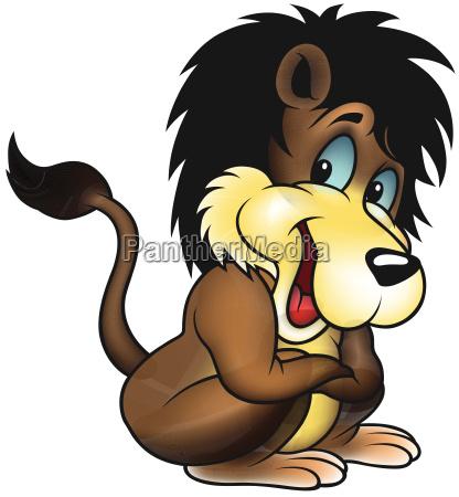 brazowy smiling lion