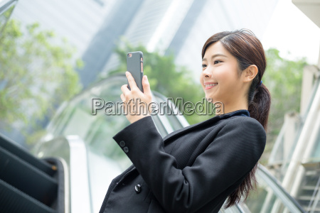 kobieta womane baba telefon ruchome schody
