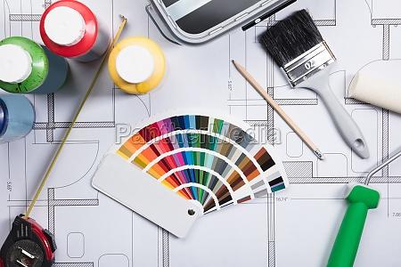 kolor malarz anstreicher swatch kolorowania probki
