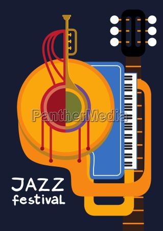 muzyka dzwiek plakat mapa jazz festiwal